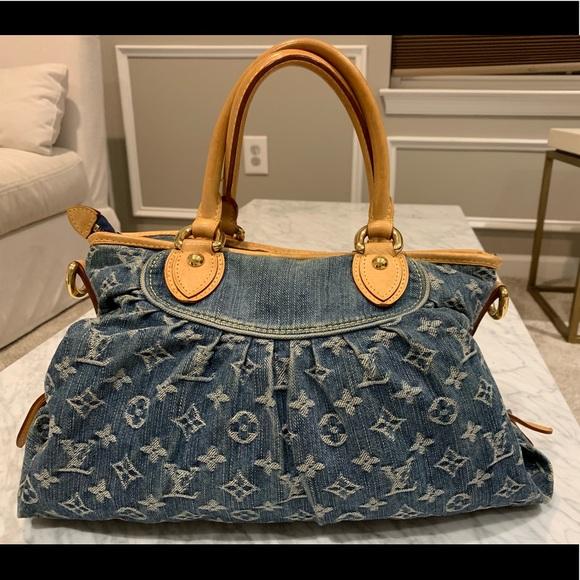 dc41277e8f6c Louis Vuitton Bags | Blue Denim Shoulder Bag | Poshmark